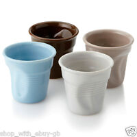 Crumpled Coffee Espresso Set - 4 CUP - Porcelain VENDING CUP STYLE - Gift