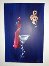 Melody Cool, surrealism, fantasy, original, acrylic, signed