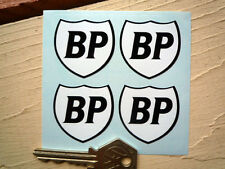 "BP bouclier classic car stickers 6 /""Paire Noir /& Blanc RACING RALLYE vélo moto"