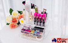 OZ Clear Acrylic Makeup Holder Cosmetic 4 Drawer Organizer Storage Jewellery Box