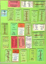#D80. TWENTY FIVE  USED NSW RAILWAY TICKETS, 1990s
