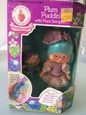 Strawberry Shortcake vintage PLUM PUDDIN Berrykin doll Critter NIB sealed 1980s