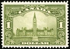 Canada #159 $1 Olive Green 1929 Parliament XF Mint Faintly Hinged CV $400+