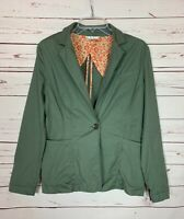 Cabi Women's S Small Olive Green Pockets Casual Army Spring Jacket Blazer $129