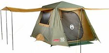 New Coleman Instant Cabin 6 Person Gold Rear Door Two Poles Tent Full Fly