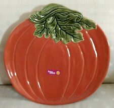 "Better Homes and Gardens ~ 14"" PUMPKIN PLATTER ~ Heritage Collection Stoneware"