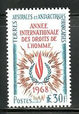 French Southern & Antarctic Territory Sc 32 NH Human Rights issue of 1968