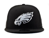 Philadelphia Eagles New Era 9Fifty Black White Logo On Field Snapback Hat Cap