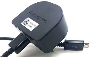 Genuine Lenovo C-P58 Mains Wall Charger + Charging Cable for LENOVO Smart Phones