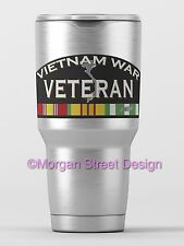 Yeti Vietnam War Veteran Die Cut Vinyl Phone Yeti Decal Sticker
