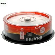 MAXELL CD-R XLII 700MB 52x Speed 80min Recordable Digital Audio Discs Pack 25