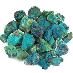 Chrysokoll - Edelsteine roh Ø ca. 40 - 60 mm AA - Qualität aus Peru Wassersteine