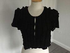 Reiss Ladies Black Cropped Cardigan / Shrug Size S. Excellent Condition.