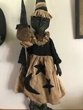Primitive Handmade Halloween Witch  Doll