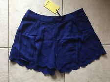 Bardot Womens Cute Pixie Scallop Cobalt Shorts Size 10 Brand New With Tags!
