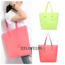 Women Tote Shoulder Bag Jelly Silicone Shopping Bag Shopper Summer Beach Purse