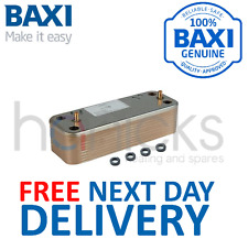 Baxi Combi Instant 80E 80HE 105E 105HE DHW Heat Exchanger 7223558 Genuine *NEW*