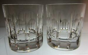 Pair of Waterford Crystal Nocturne Tranquillity Old Fashioned Whisky Glasses