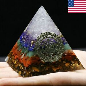 "2.2"" Large Crystal Orgone Pyramid Reiki Healing Chakra Meditation Pyramids"