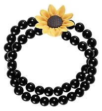 Beaded Hippie Sunflower Bracelet 60S Fancy Dress Costume Accessory