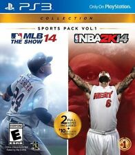 PlayStation 3 Sports Pack Vol 1 Baseball MLB 14 The Show + NBA Bask 2K14 NEW PS3