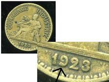50 centimes chambre de commerce 1923 ( VARIETE   la queue du 9 et  épaisse  )