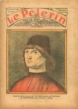 Portrait d'homme Le Condottiere Antonello de Messine Le Louvre 1935 ILLUSTRATION