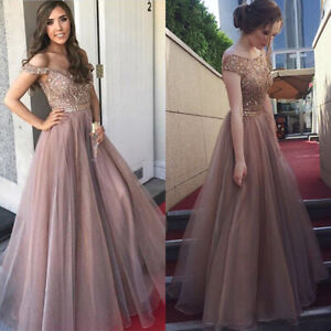 Womens Sexy Chiffon Sequins Backless Formal Party Ball Gown Wedding Maxi Dress