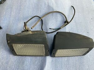 genuine porsche 911 930 fog lights lamps PAIR left right L R 1984-89