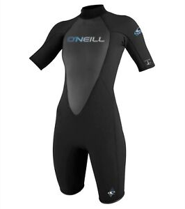O'Neill Womans Reactor Spring Black WetSuit - Size 8