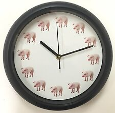 Oinking Pig Wall Clock - Pig Sound on the Hour NEW