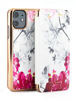 Ted Baker Folio Hülle iPhone 11 Babylon Design Grau / Rosegold