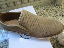NEW STEVE MADDEN FERROW SAND SUEDE SHOES LOAFERS SLIP-ONS  MENS 11.5 FREE SHIP