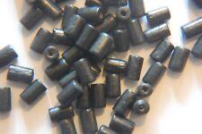 50 x WOODEN TUBE Beads ~ 7x4mm ~ BLACK ~ Tube / Cylinder - Wood