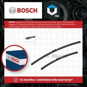 2x Wiper Blades (Pair) Flat / Aero type fits AUDI S8 4H 4.0 Front 12 to 18 Set