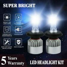 2* H4 LED Headlight Kit 9003 HB2 COB Hi-Lo Beam 2000W 300000LM White Light Bulb