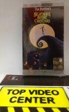 Nightmare Before Christmas Tim Burton UMD PSP Sony Video Film Movie - NUOVO -