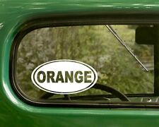 2 ORANGE COUNTY STICKERs California Oval Decal For Car Truck Bumper Rv Laptop
