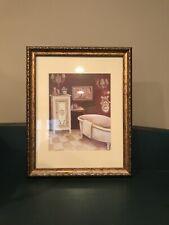 """Framed Picture """"Bordeaux Bath"""" 13"""" X 16"""""""