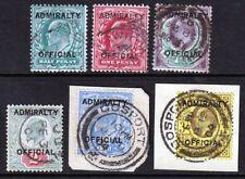 O101-O106 Admiralty Official Set GU(391)
