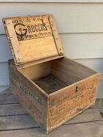 Rare Antique Wooden Kingsford CORN STARCH BOX/ GRIGGS & CO ST PAUL MN 9x16x14""