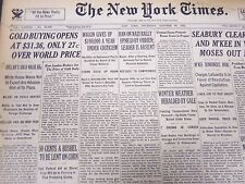 1933 OCTOBER 26 NEW YORK TIMES - GOLD BUYING OPENS AT $31.36 - NT 5229