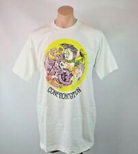 Vtg 1990 Bob Marley Confrontation White T-shirt XL Deadstock
