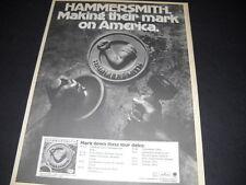 HAMMERSMITH September 13 - October 8, 1975 USA Tour Dates PROMO POSTER AD mint