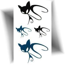 Paire pattes 10 cm Noir 2 donne la Patte Chien Chat Voiture Gamelle Autocollant Tatouage Film