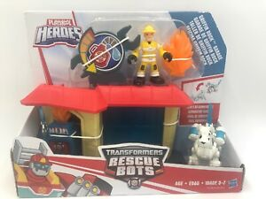 Transformers Rescue Bots Griffin Rock Garage Playskool Heroes Toy Set - NEW
