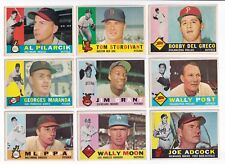 ***1960 Topps #13 Wally Post BV$6! No creases, Slightly soft corners***