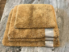 JCPenney Home Ultra Soft Bath Rug Set Copper River Gold NWT Rubber back non slip