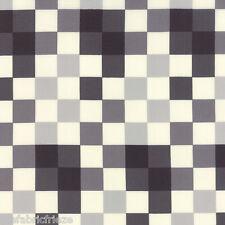 MODA SERENITY Grey Geometric Squares Skinny Stone Quilting Fabric Fat Quarter