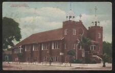 Postcard Pomoma California Ca Catholic Church w Twin Towers 1907